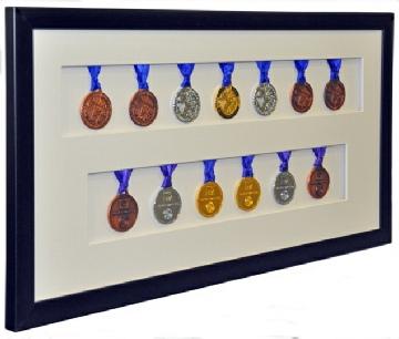 Framed Swimming Medals