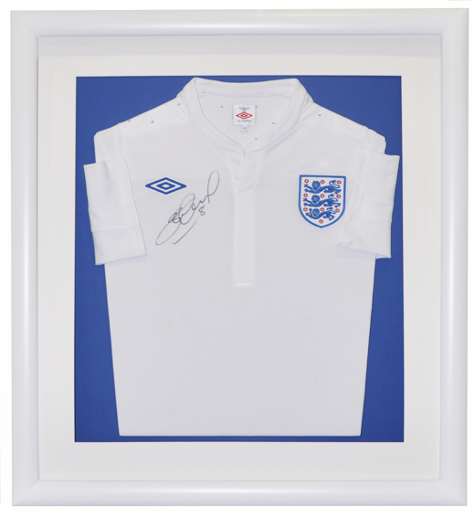 Signed England Shirt, Signed England Football Shirt Framing