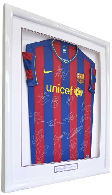 Framed Barcelona Football Shirt