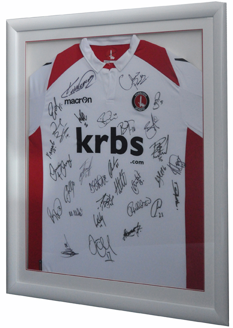 Framed Charlton Shirt (White with Red)