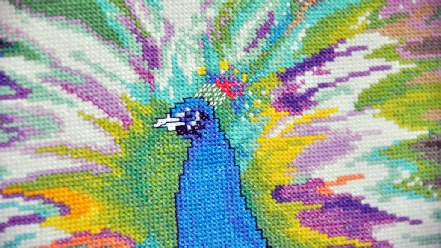Unframed Peacock Needlework