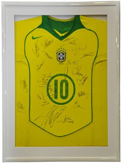 Framed Signed Brazil Shirt