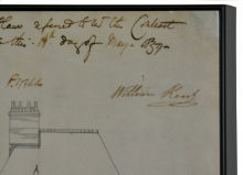 We were asked to dry mount 9 large photographs of building plans for the National Trust. We fused them in our hotpress to 5mm foam board, we could have used mdf, though the finish would not have been as smooth. We then heat-sealed a matt laminate over the top for protection. These were then framed in an 8mm deep floater frame.