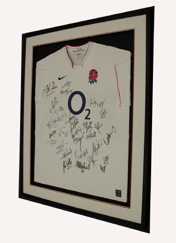 Framed England Rugby Shirt (signed)