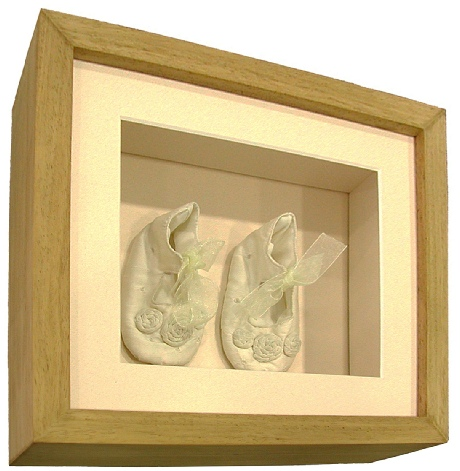 Framed Baby's Shoes (Satin)