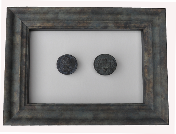 Framed Ancient coins