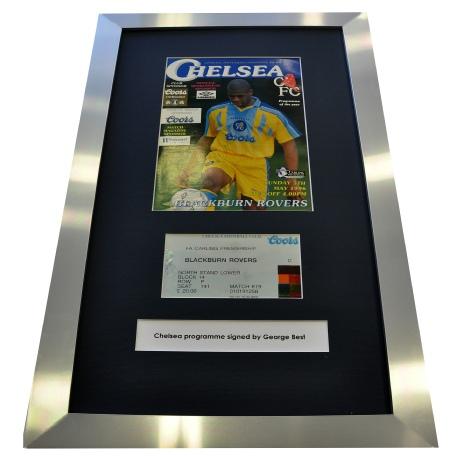 George Best Signature (Chelsea Programme)