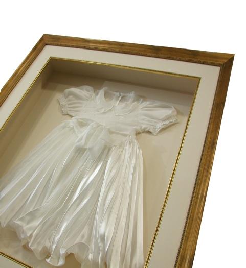 Framed Christening Dress
