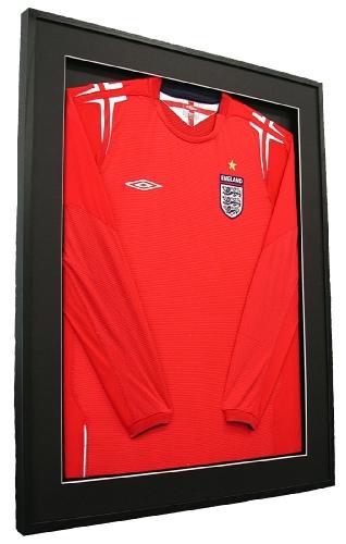 Framed England Football Shirt (red)