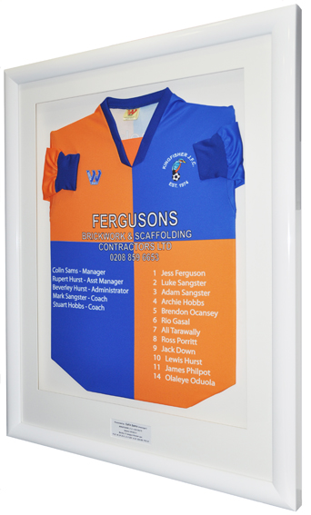 Framed Kingfisher FC Football Shirt
