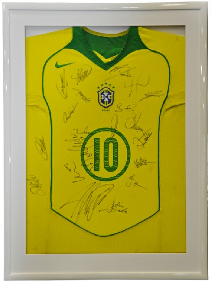 Framed Signed Brazil Shirt