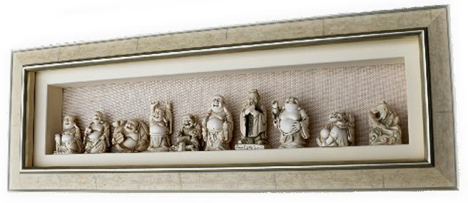 Framed Chinese Buddhas