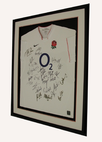 Framed England Rugby Shirt (signed)