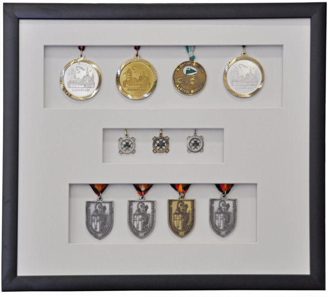 Framed Swimming Medals