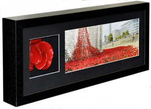 Landscape Poppy with Photo in Black Frame 01 tiny